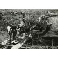 A.E.F. Mines d'or de Dulos, lavage de l'or