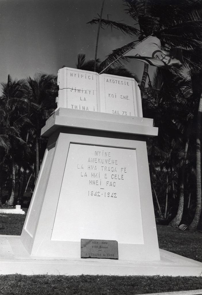 A Mou (Lifou), le monument dédié à l'évangéliste Fao