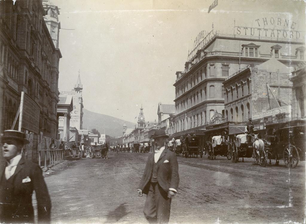 Adderley Street, Le Cap / Théophile Burnier (1896)