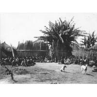 Africains assistant à un culte à Lukanda, annexe de Senanga