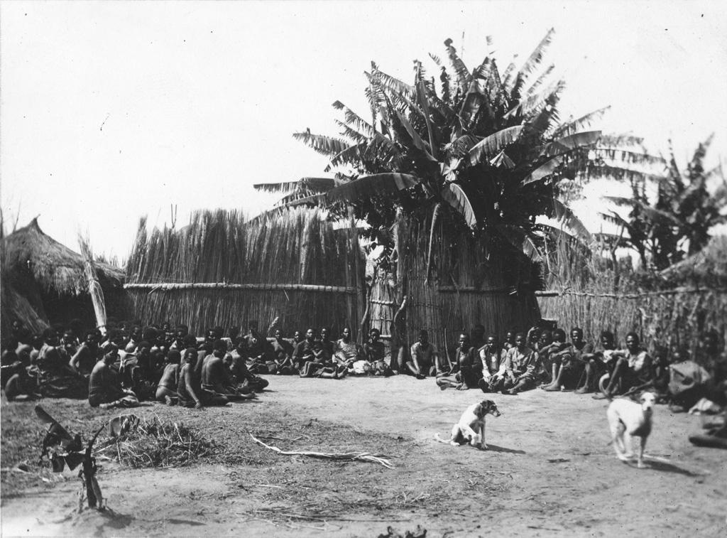Africains assistant à un culte à Lukanda, annexe de Senanga / Burnier (1907)