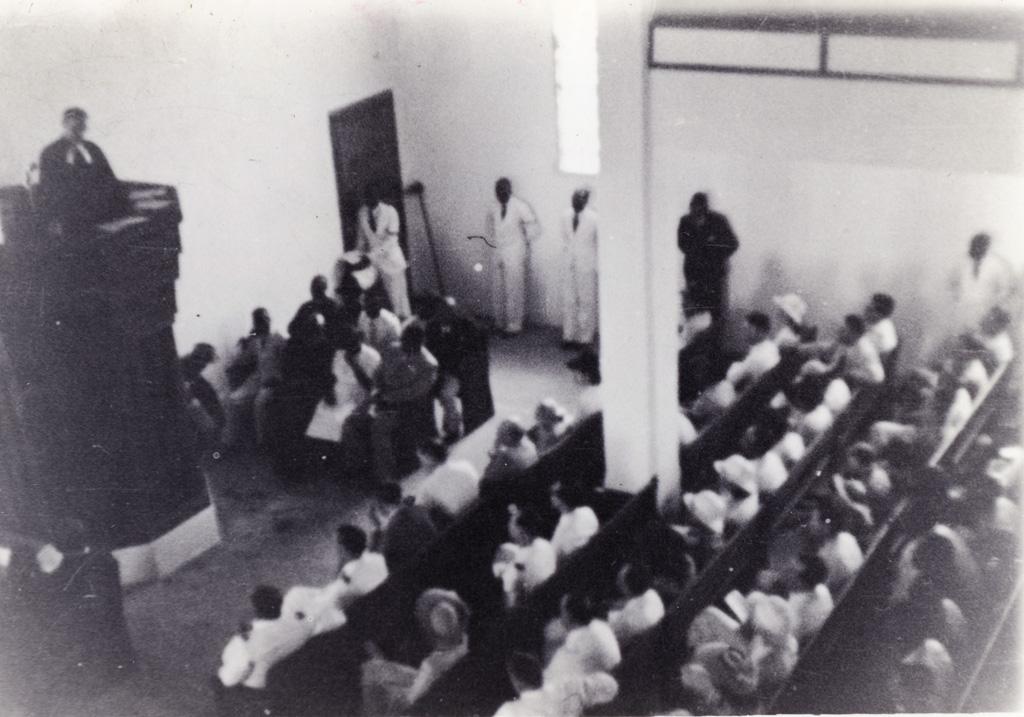 Allocution de M. Cuénod pour l'inauguration du temple du Centenaire à Douala / non identifié (1930/1950)