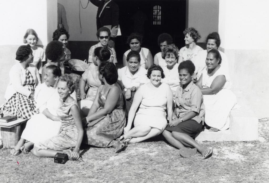 Assemblée des Eglises du Pacifique à Chepenehe, 1966 : Portrait de groupe des déléguées