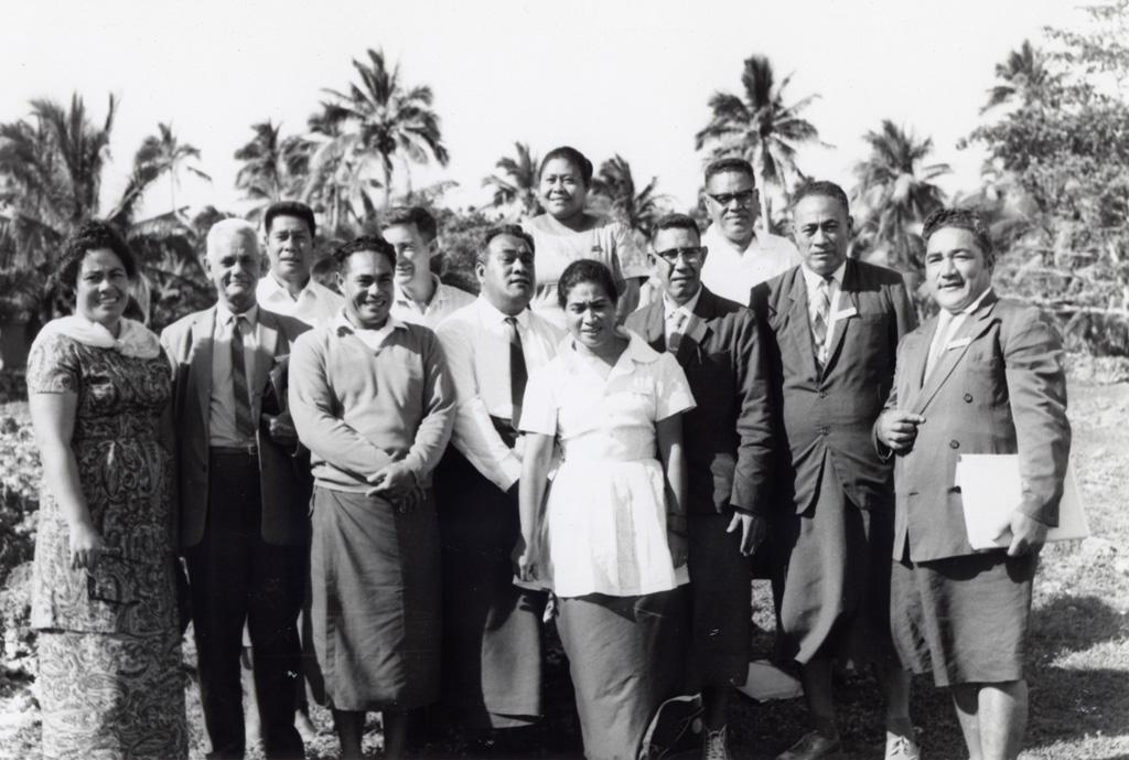 Assemblée des Eglises du Pacifique à Chepenehe, 1966 : des délégués des Samoa