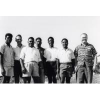 Assemblée des Eglises du Pacifique à Chepenehe, 1966 : groupe de délégués des Salomons et de Nouvelle-Guinée