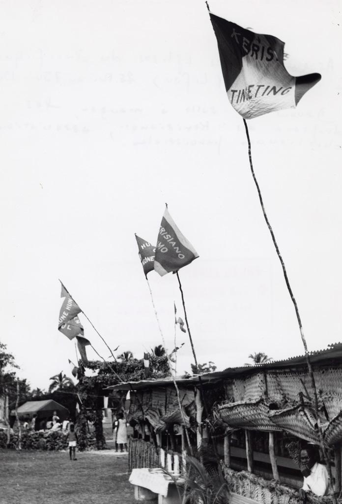 Assemblée des Eglises du Pacifique à Chepenehe, 1966 : la salle à manger