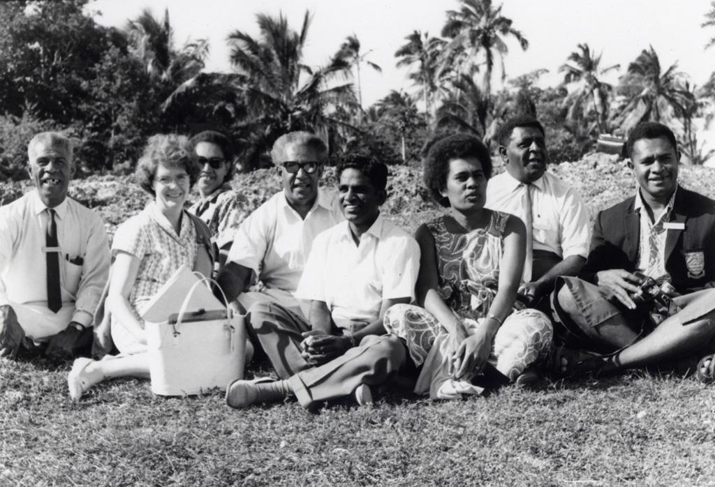 Assemblée des Eglises du Pacifique à Chepenehe, 1966 : les délégués des Iles Fidji