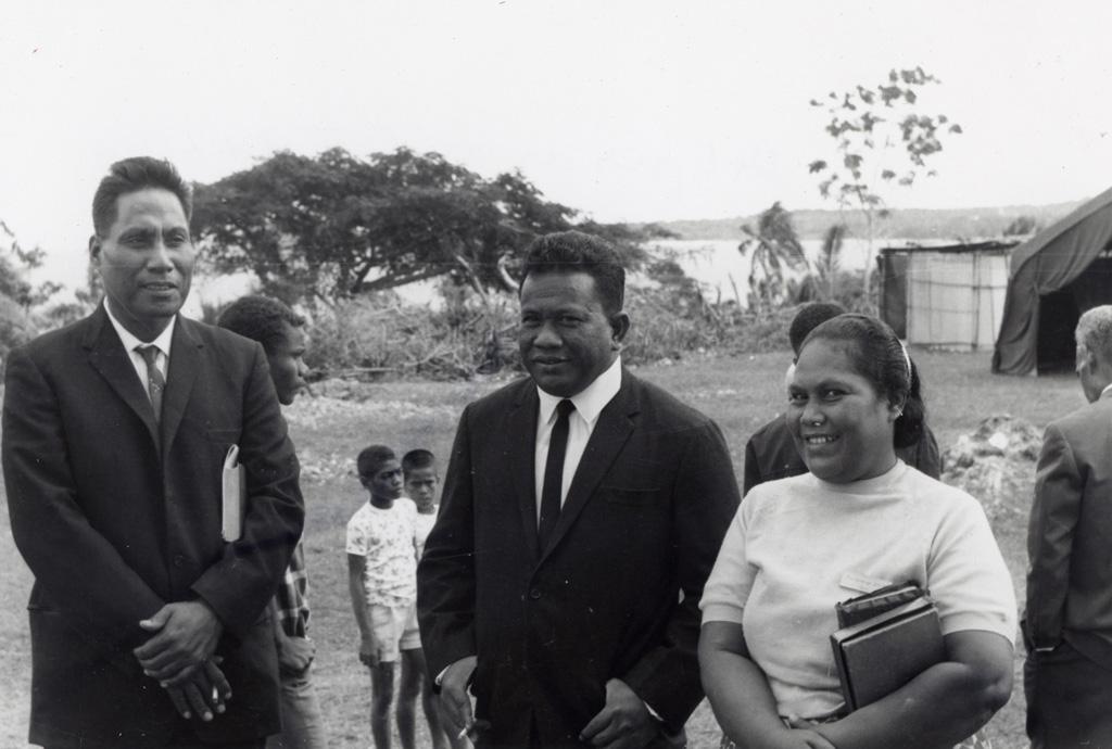 Assemblée des Eglises du Pacifique à Chepenehe, 1966 : les délégués des Iles Gilbert et Ellice