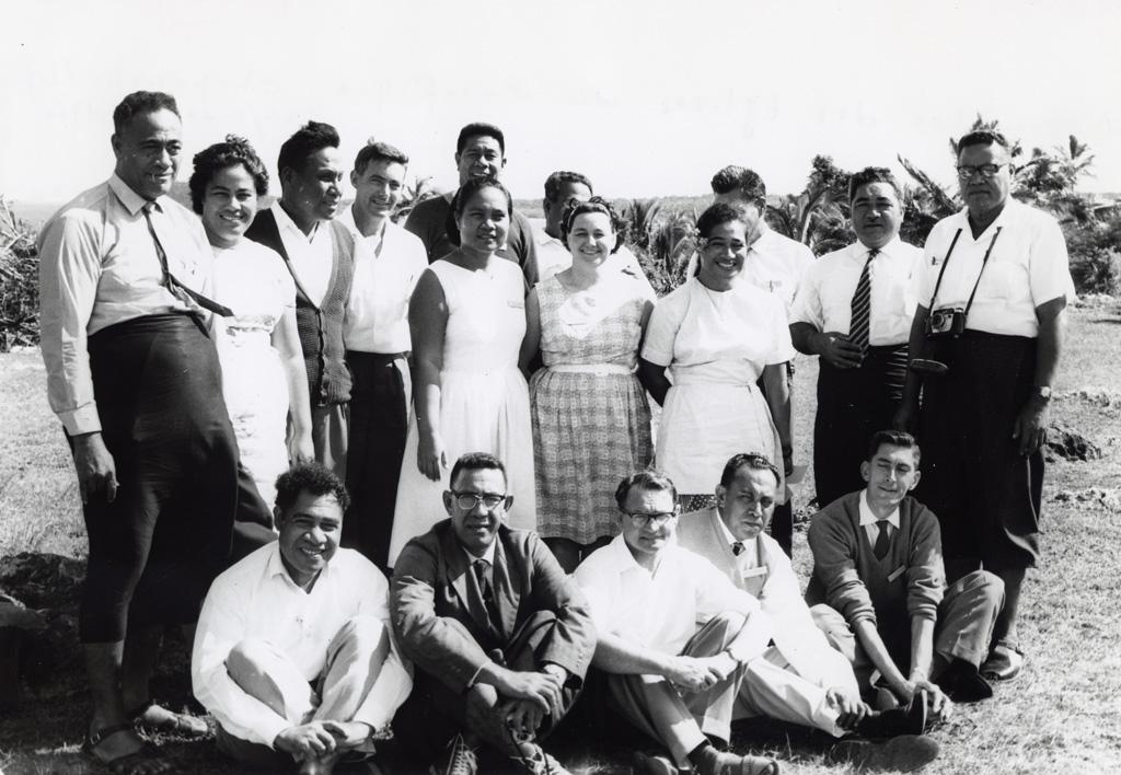 Assemblée des Eglises du Pacifique à Chepenehe, 1966 : les délégués polynésiens, principalement des Samoa