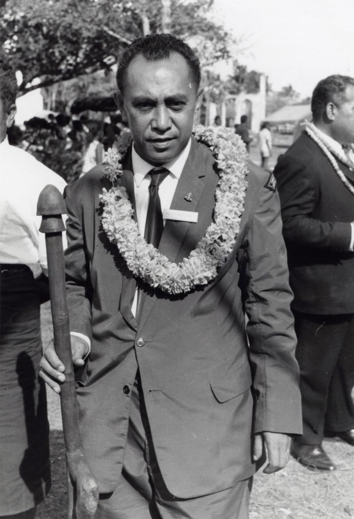 Assemblée des Eglises du Pacifique à Chepenehe, 1966 : un délégué de Ravotonga (Iles Cook) d'où vint l'évangéliste Fao, au moment de son départ de Chépénéhé