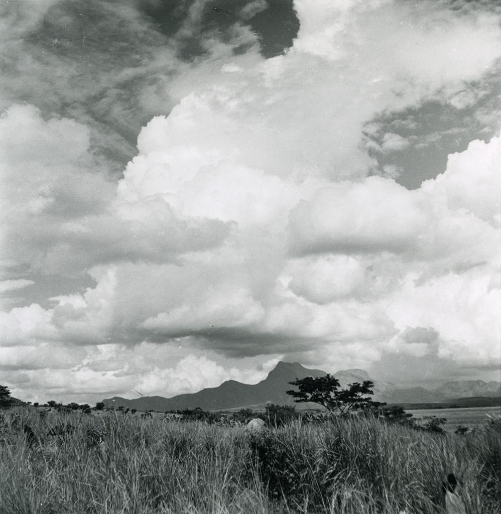 Au pays Bamoun, au fond le massif du Nkogam, 2 200m