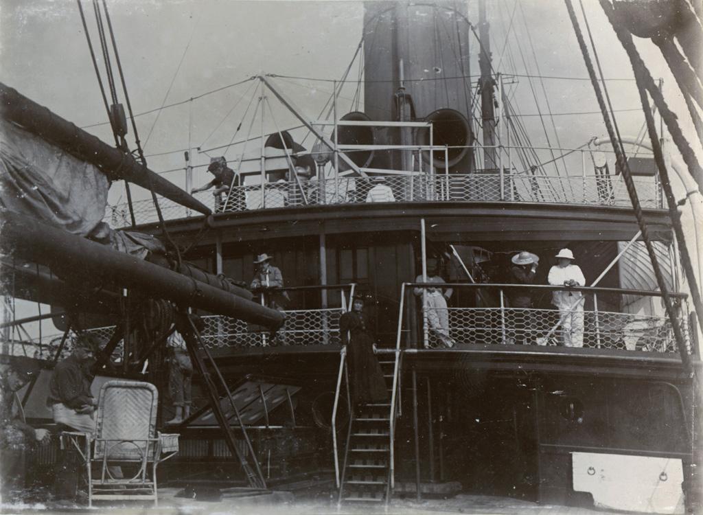 Autre vue du même Bateau [qui a servi pour la traversée de Londres à Cape Town] / Théophile Burnier (1896)