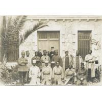 Baptême de tirailleurs Malgaches par le pasteur Emile Lenoir