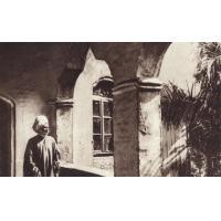 Cameroum - Le Sultan de Foumban sur la galerie de son palais