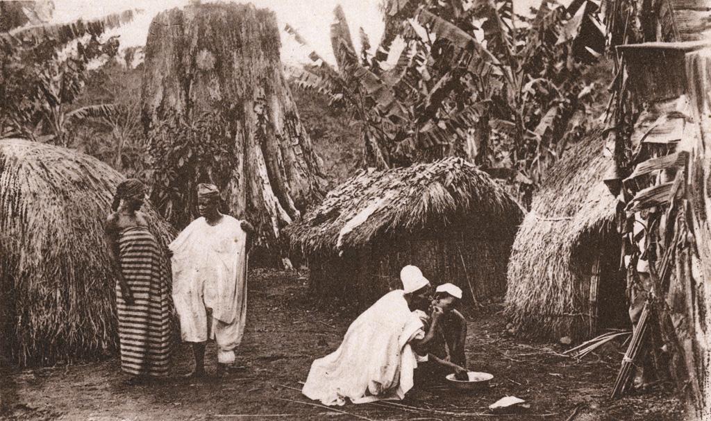 Cameroun - Repas dans un village Haoussa