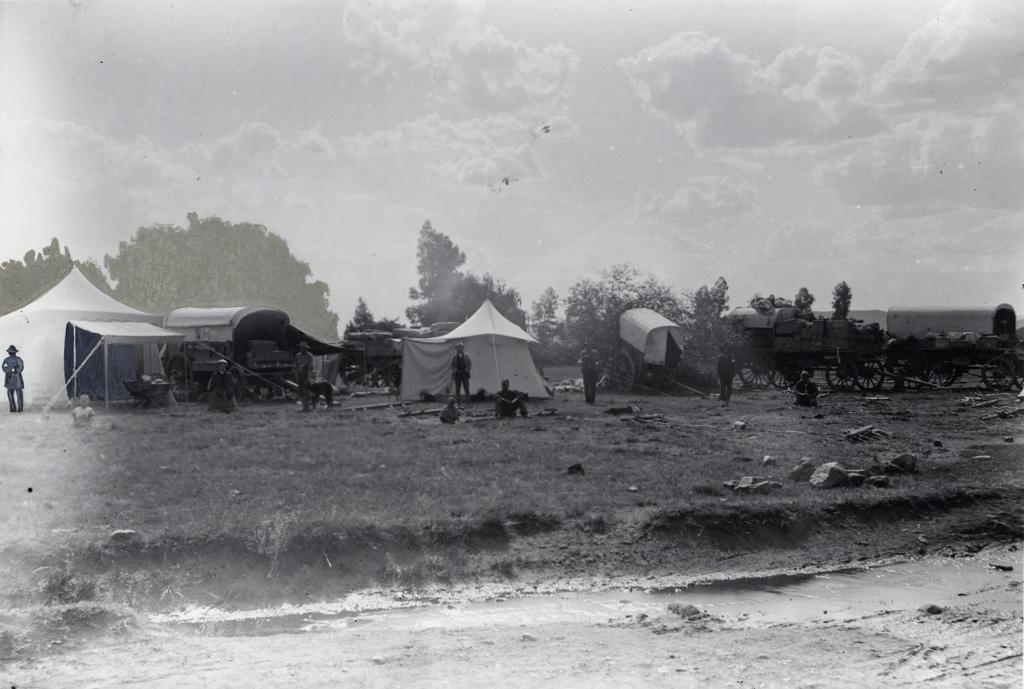 Campement au bord du fleuve