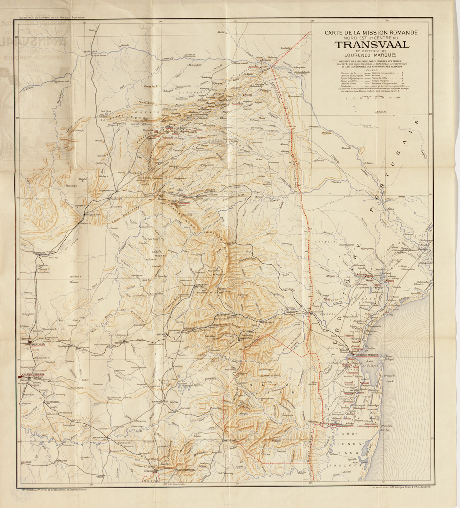 Carte de la Mission Romande Nord-Est et Centre du Transvaal et district de Lourenço Marques / Maurice Borel ([1900])