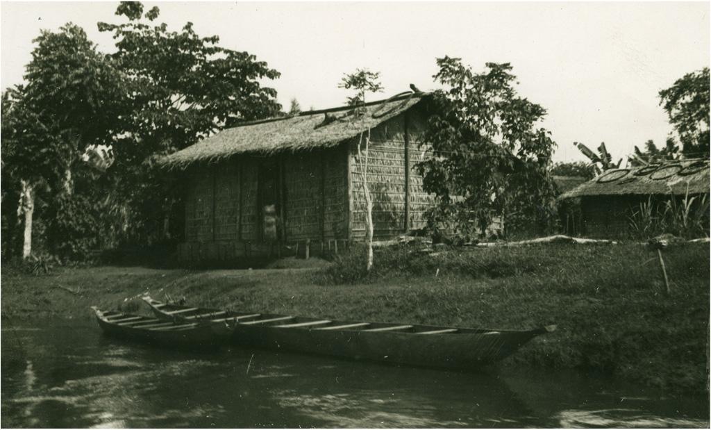 Case au bord du fleuve