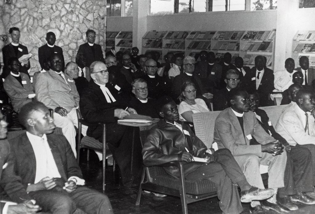 Cérémonie de création de l'Eglise Unie de Zambie le 17 janvier 1965