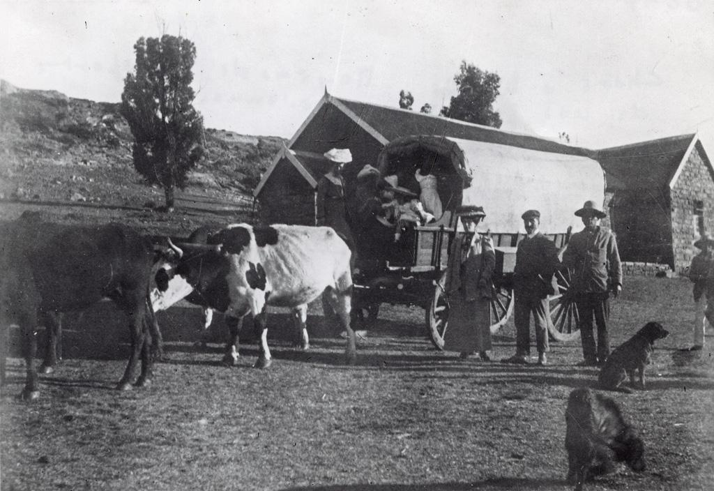 Char à boeufs, le moyen de transports des premiers missionnaires