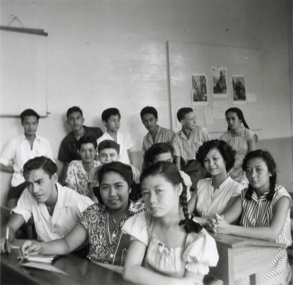 Classe de troisième du cours complémentaire mixte à l'école protestante de Papeete