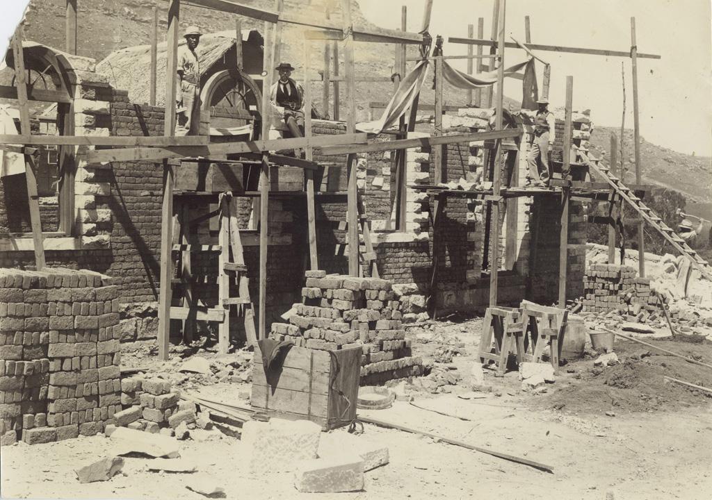 Construction de l'imprimerie de Morija