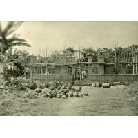 Construction de la maison de l'infirmière, léproserie