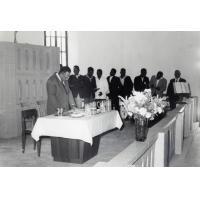 Culte au temple de Chépénéhé : Sainte Cène avec le pasteur Thidjine