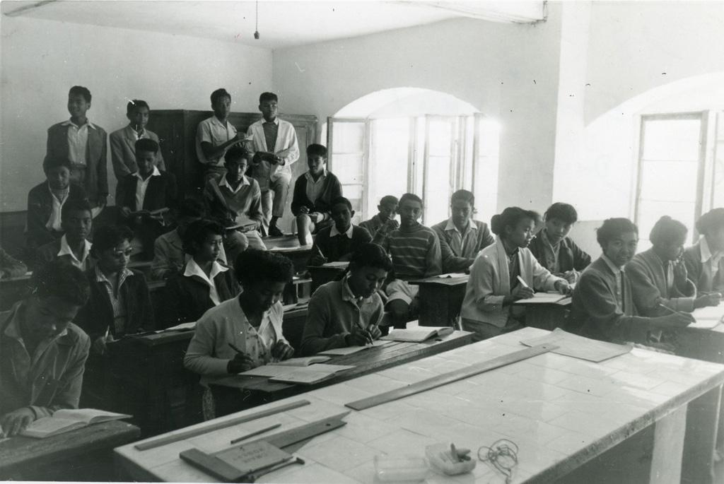 Dans une classe de l'école Paul Minault
