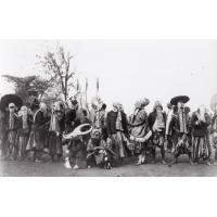Danseurs masqués - Délégation aux funérailles de Ne Nzapdnunke