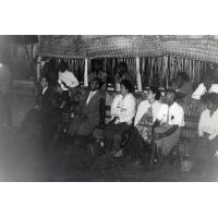 Des délégués à la fin de l'assemblée des Eglise du Pacifique à Chepenehe
