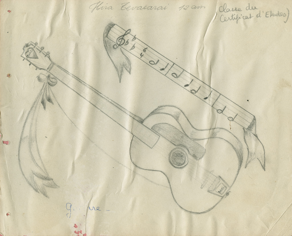 Dessin d'une guitare