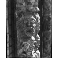 Détail de sculpture de porte