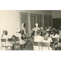 Ecole d'infirmières de Douala, salle de cours