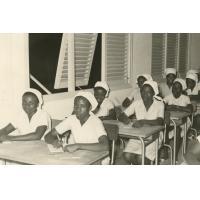 Ecole d'infirmières, salle de cours