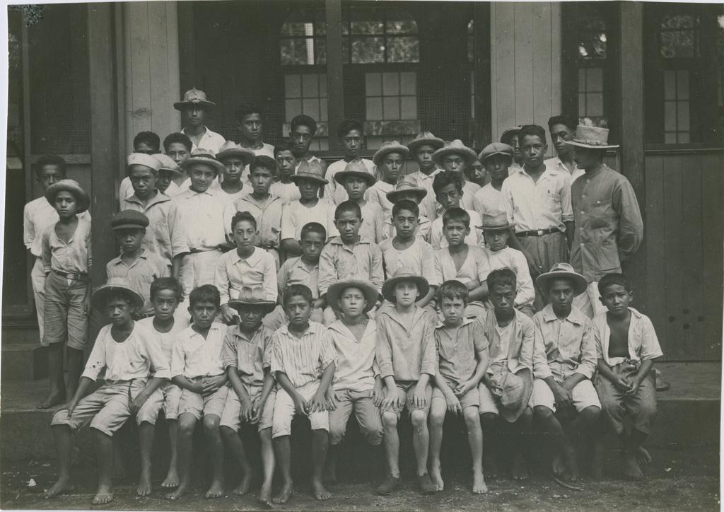 Ecole de garçons de Papeete, classe de monsieur Pailloux