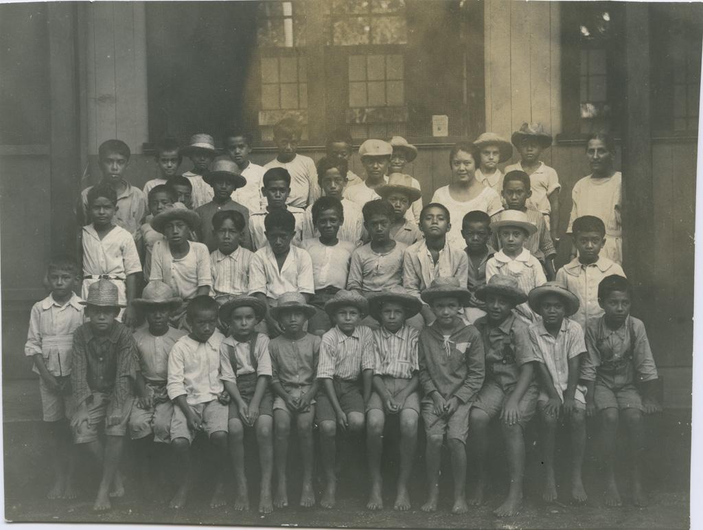 Ecole de garçons de Papeete, la classe des petits