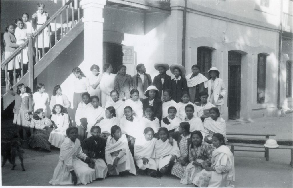 Ecole ménagère, les élèves