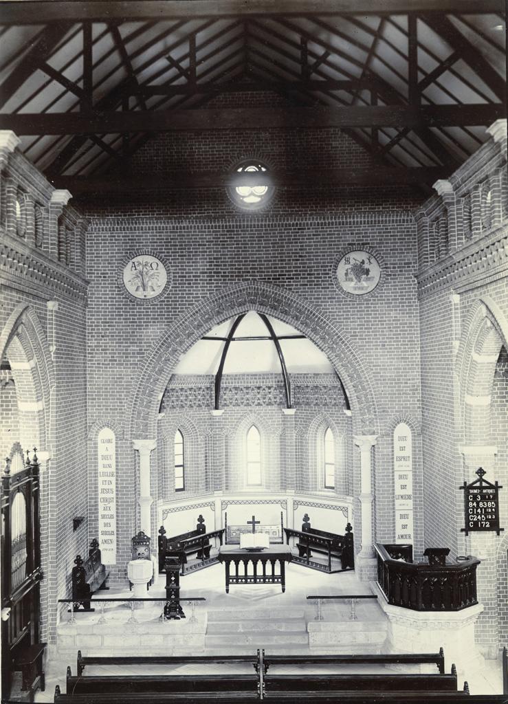 Eglise d'Avaratr' Andohalo - Choeur, vu de la galerie située au-dessus de la porte d'entrée