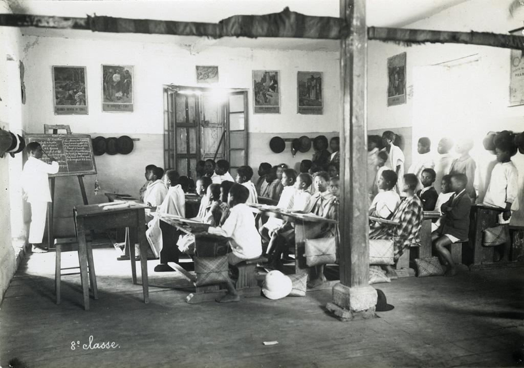 Elèves de huitième à l'Ecole Benjamin Escande