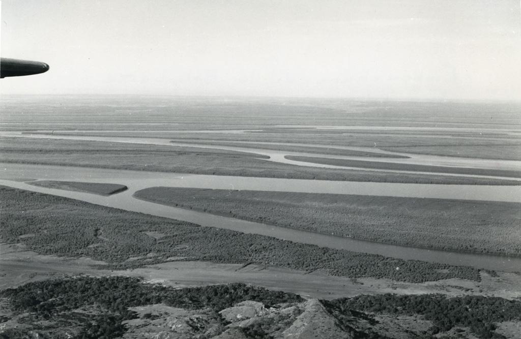 Embouchure de la Betsiboka, vue aérienne, Nord Ouest