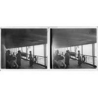 En mer, sur le pont d'un bateau