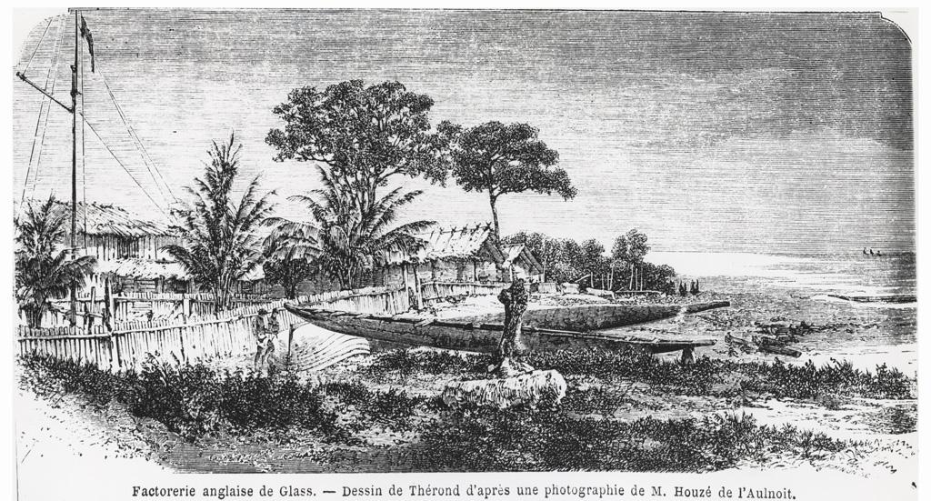 Factorie anglaise de Glass, dessin de Thérond d'après une photo de M. Houzé de l'Aulnoit