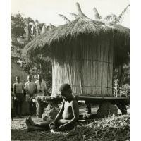 Grenier à mil Mambila, village de Atta
