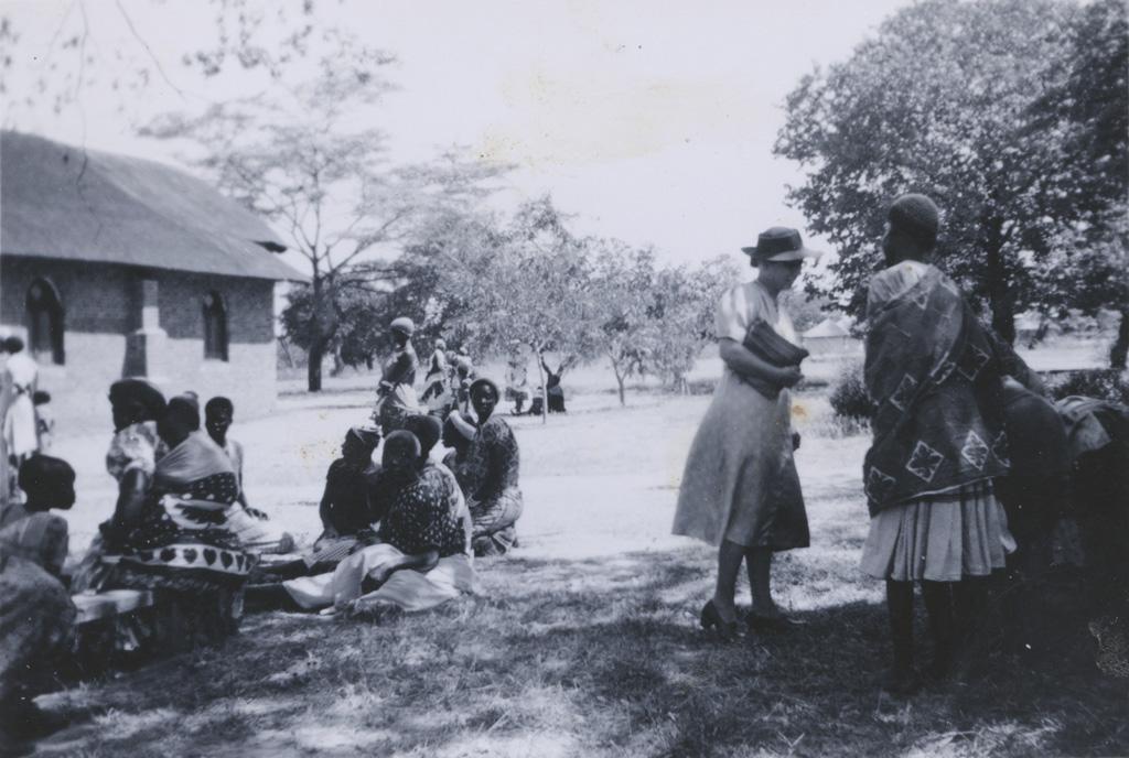 Groupes de femmes après une réunion