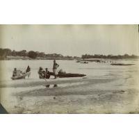 Halte au bord du confluent de la rivière Lumbala