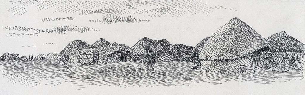 Hlotsé-Heights, un coin du camp