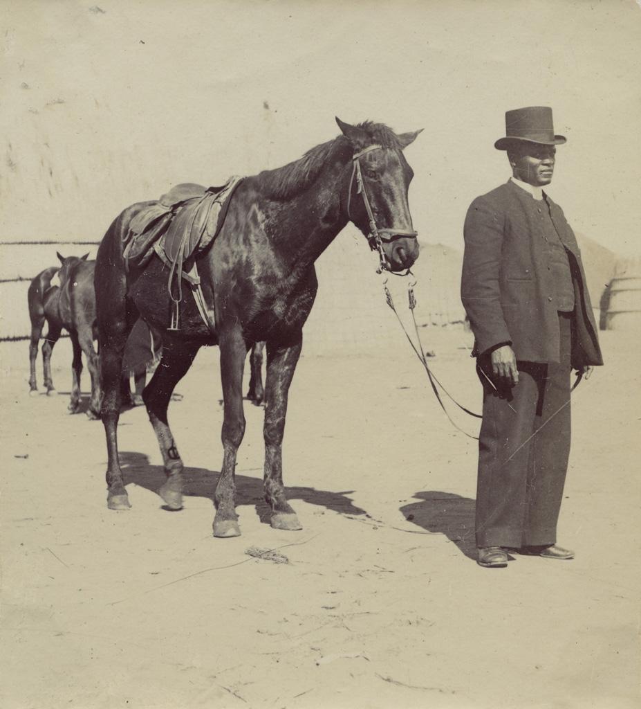 [Homme Mossouto avec un cheval]