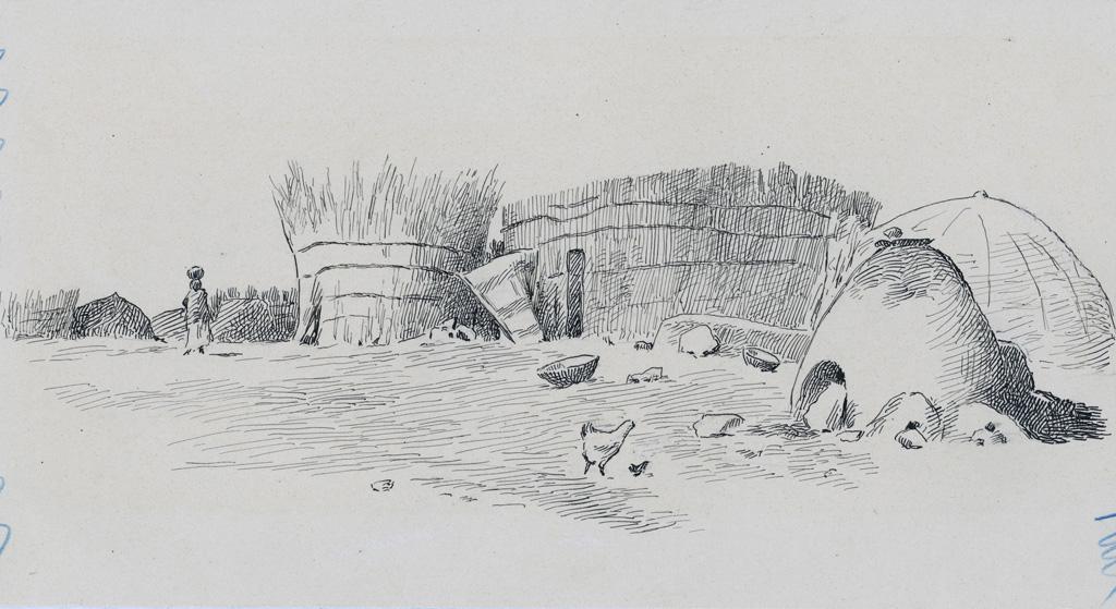 Huttes du village du Chef Molapo