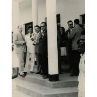 Inauguration de l'ENIA de Foumban laquelle est baptisée Marcel Jezouin